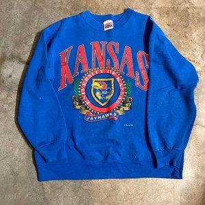 Vintage Kansas Jayhawks Nutmeg Blue Crewneck